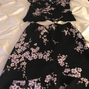 Evan Picone Flora Skirt Set